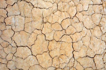 evaporarse: Cierre de tierra agrietada en el desierto. El calentamiento global concepto