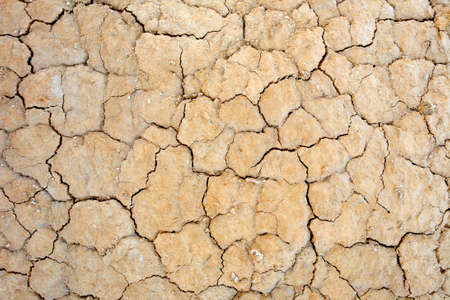 shrinkage: Close up of cracked ground in the desert. Global warming concept