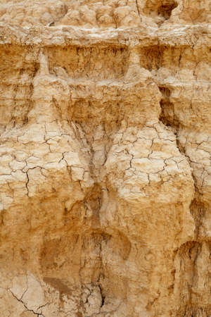 shrinkage: Close up of cracked ground in the desert. Environmental concern concept  concept Stock Photo
