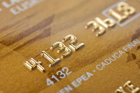 Macro shot of credit card. Selective focus and shallow depth of Field Banco de Imagens - 956592