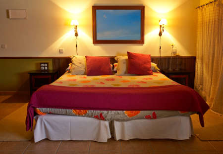 A beautiful bed of a small hotel in spring Stock Photo - 969220