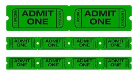 Admit one tickets. Easy to edit colors and numbers. Vector Illustration. Vector Illustration illustration