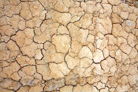 encogimiento: Cierre de tierra agrietada en el desierto. El calentamiento global concepto