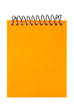 Orange notebook isolated on white background.  Stock Photo - 1807312