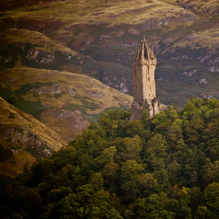 highland: National Wallace Monument on the hill, Stirling, Scotland