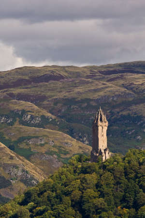 wallace: National Wallace Monument on the hill, Stirling, Scotland