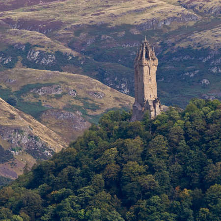 National Wallace Monument on the hill, Stirling, Scotland photo