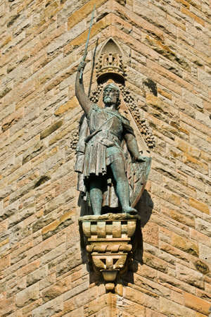 william: A William Wallace Monument statue, Stirling, Scotland Stock Photo