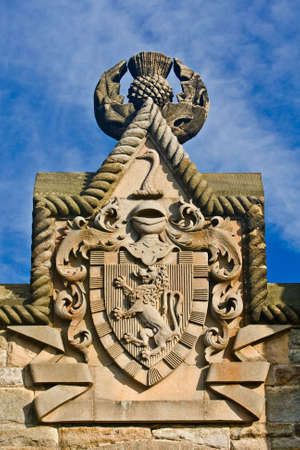 Shield of William Wallace Monument, Stirling, Scotland photo