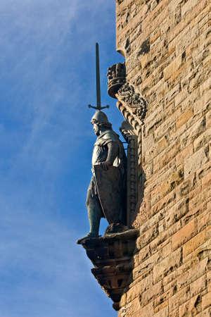 A William Wallace Monument statue, Stirling, Scotland Banco de Imagens