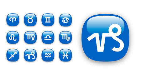 twelve: Set of vector icons for twelve astrological zodiac signs