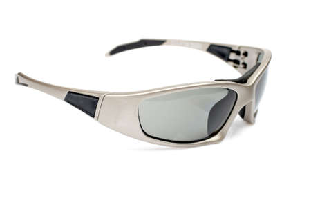 Sunglasses closeup with soft shadow on white background