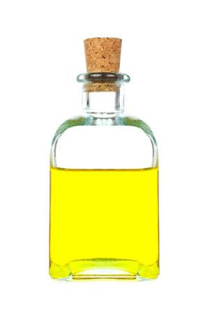 oil bottle: Extra virgin olive oil bottle isolated on white background