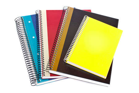 Some notebooks isolated on white background. Shallow depth of field Stock Photo - 3295927