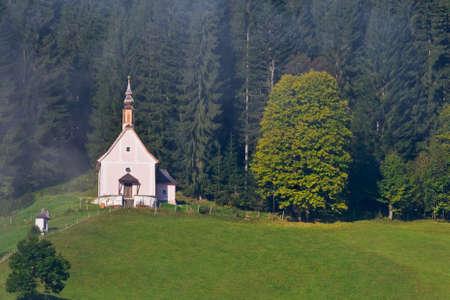 religiosity: Beautiful church in Gosau, Salzkammergut region, Austria Stock Photo