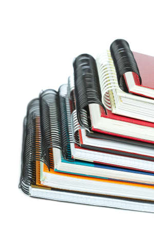 Some notebooks with soft shadow on white background. Shallow depth of field Stock Photo - 4555670
