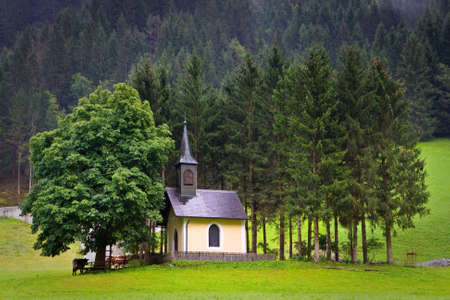 The old chapel in Huttschlag, municipality in the St. Johann im Pongau, Austria photo