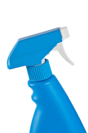 neatness: Detergent spray bottle isolated on white background Stock Photo
