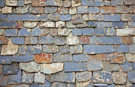 Close up of slate roof tiles background photo
