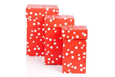 three gift boxes: Tres cuadros de regalo