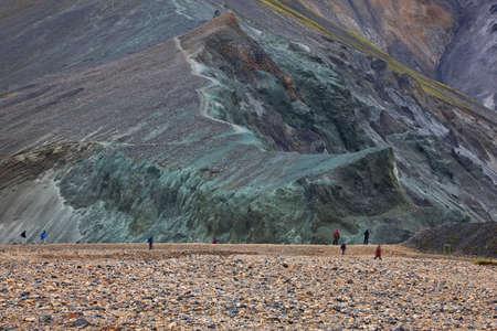 Multicolored rhyolite mountains in Landmannalaugar, Fjallabak Nature Reserve, Iceland Stock Photo - 7059564