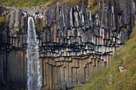 Svartifoss Waterfall, Skaftafell Park, Iceland Stock Photo - 7176848
