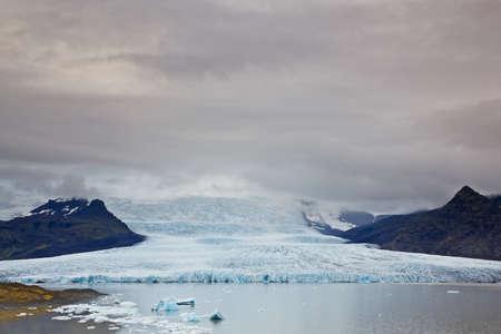 fjallsarlon: Fjallsarlon Glacial lake and Fjallsjokull glacier, Iceland Stock Photo