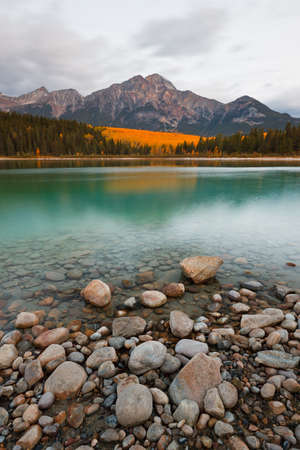 rockies: Patricia Lake and Pyramid Mountain, Jasper National Park, Alberta, Canada