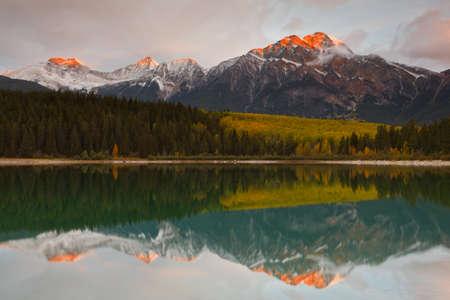 Patricia Lake and Pyramid Mountain, Jasper National Park, Alberta, Canada Stock Photo - 9414477