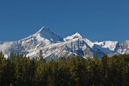 rockies: Majestic snowcapped mountains in the Canadian Rockies, Banff National Park, Alberta, Canada
