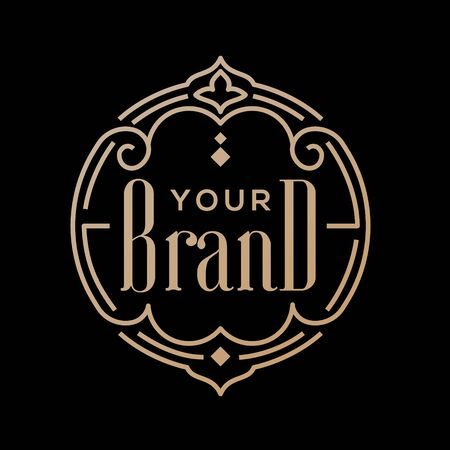 Luxury line art Ornamental logo