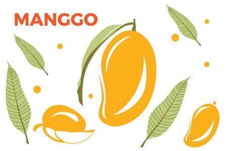 Mango seamless pattern. Mango seamless pattern background.Mango fruit graphic color seamless pattern Ilustração