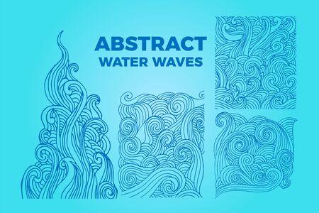 Abstract water waves background Ilustração