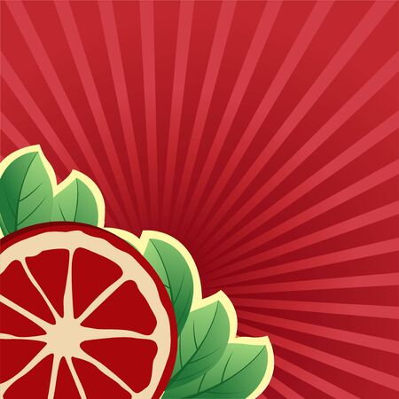 Fruit peach Pomegranate background is brightly colored, fresh and pleasant