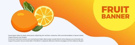 BANNER Fruit lemon and fresh orange banners, simple and look fresh with bright colors Ilustração