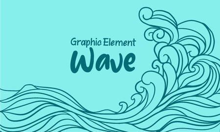 ouline Abstract water waves illustration