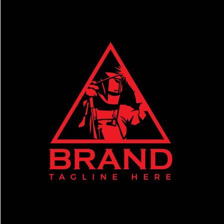 Welding company badge logo design, triangle emblem logo Logo
