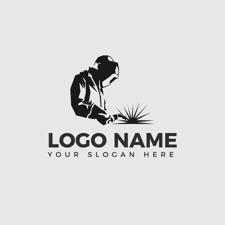 Welding company logo design side view, WELDER LOGO