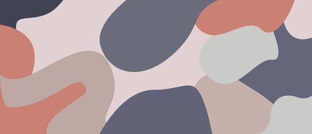 abstract mural painting, shape design, abstract mountains pop abstrac wallpaper flat background Illustration