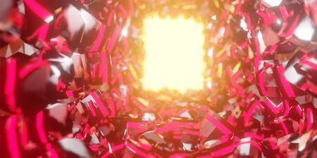 3d render realistic red light space composition. Abstract theme for trendy designs. 版權商用圖片