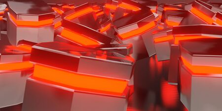 3d render realistic red light composition. Abstract theme for trendy designs.