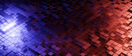 abstract background with lights 3d render realistic abstract block light composition. Abstract theme for trendy designs.