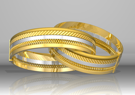 two golden rings Stock Photo