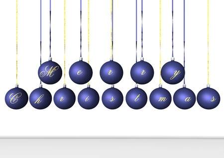 3d rendering, blue bulbs on Christmas time Stock Photo - 1674351