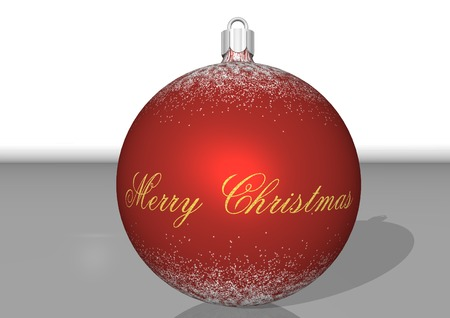 3d rendering, red bulbs on Christmas time Stock Photo - 1674352