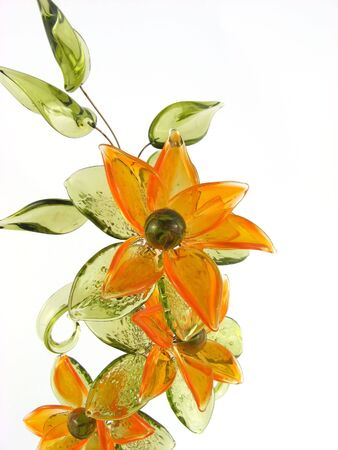 hand-made flower of glass Stock Photo