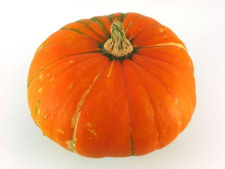 farme: orange pumpkin at decoration on white background Stock Photo