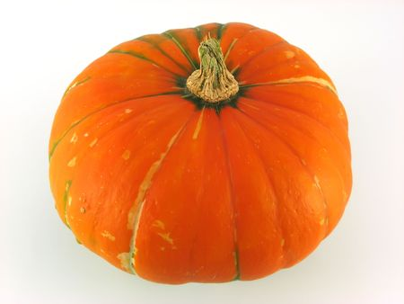 orange pumpkin at decoration on white background Stock Photo