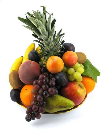 composition of fresh fruits on white background  Stock Photo - 1859244