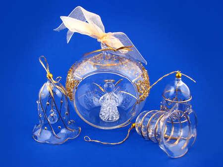 glass bulb and angel, decoration christmas tree Stock Photo - 2034237